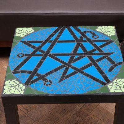 "Table ""Geek"" Cthulhu - 55x55cm - Faïence (carrelage)"
