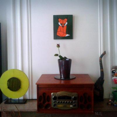 Tableau Renard - 20x25 cm - Faïence