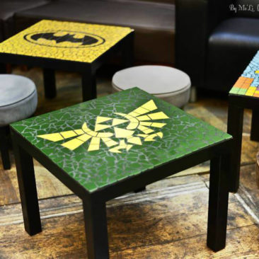 Table mosaïque Triforce (Zelda)