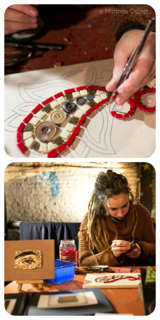Atelier création mosaique