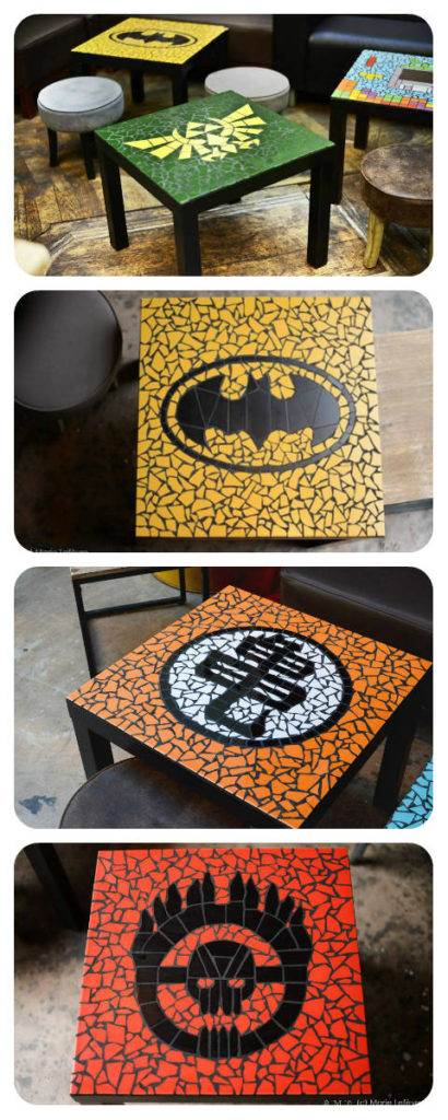 Tables geek mosaique