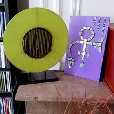 A vendre - Love Symbol Prince - 18x29,5 cm - Miroir, peinture