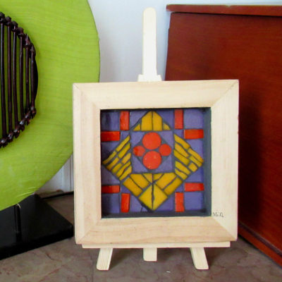 A vendre - Art Nouveau - 15x15 cm - Pâte de verre