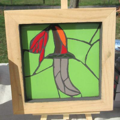Tableau Poignard - 15x15 cm - Faënce