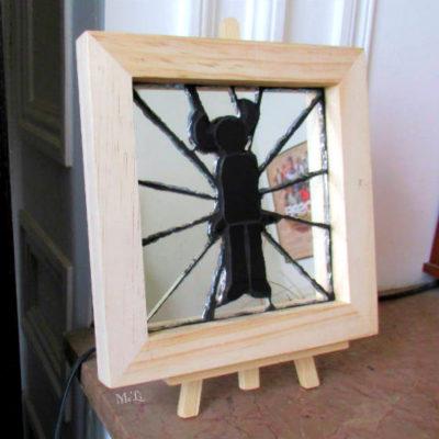 Tableau Jamiroquaï - 15x15 cm - Miroir, Faïence (Carrelage)