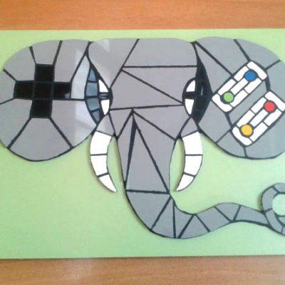 Éléphant Manette super Nintendo - Faïence (Carrelage)