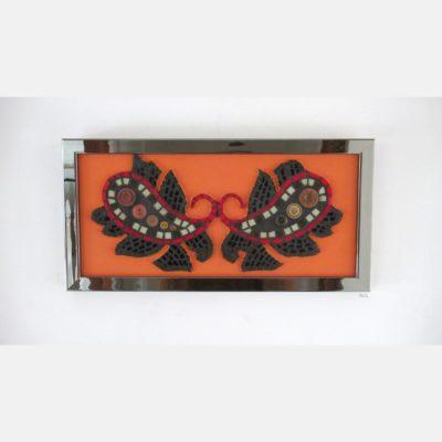 A vendre - Paisley - 21,2x43 cm - Pâte de verre, boutons