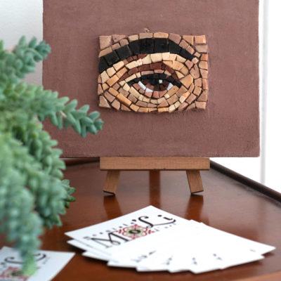 Oeil - 18x13,8 cm - Smalt