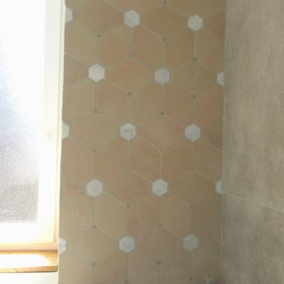 Salle de bain - 226x73 cm- Marbre, faïence