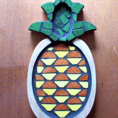 Ananas - Pâte de verre, émaux de Briare