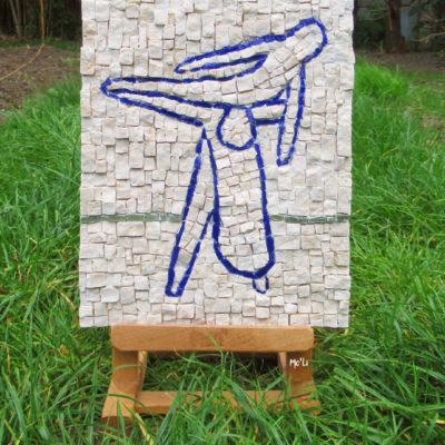 A vendre - Porté de danse - 20x25,5 cm - Marbre, smalts